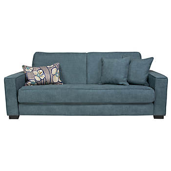 Grayson Convert-a-Couch Full-Size Sleeper Sofa - Blue Evening