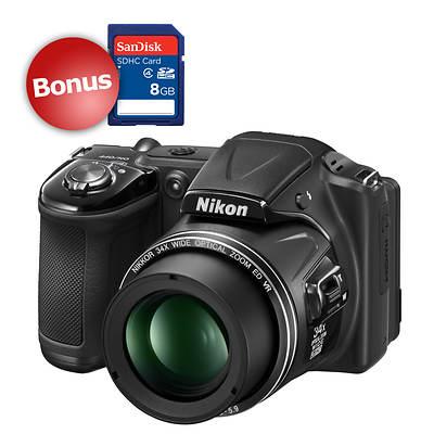 "Nikon COOLPIX L830 16MP 3"" LCD 34x Optical Zoom Digital Camera with f/3-5.9 Nikkor Lens, Bonus 8GB SDHC"