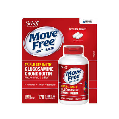 Schiff Move Free Joint Health Triple Strength Glucosamine Chondroitin Dietary Supplement, 170 Count