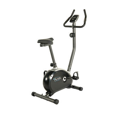 Stamina Avari Upright Exercise Bike with Folding Equipment Mat