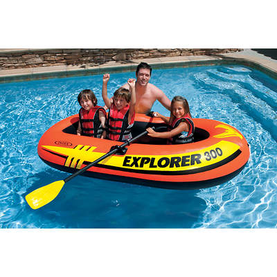 Intex Explorer 300 Inflatable Boat Set