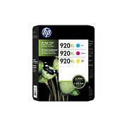 HP 920XL Color Ink Cartridges, 3 pk.