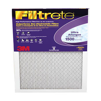 "3M Filtrete 1500 Ultra Allergen Reduction Filters, 16"" x 20"" x 1"", 2 pk."