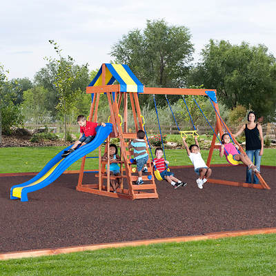 Backyard Discovery Yukon III Cedar Swing Set