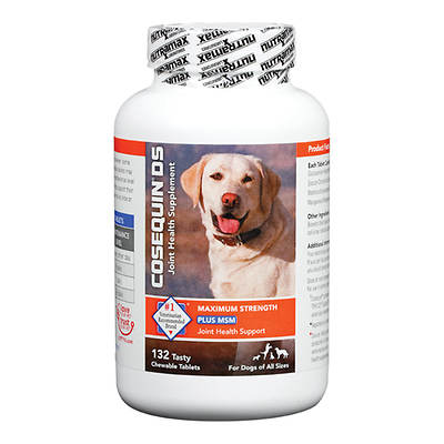 Cosequin DS Plus MSM Joint Health Supplement for Dogs, 132 Scored ...