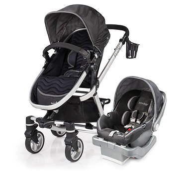 Summer Infant Fuze Travel System with Prodigy Infant Car Seat - Black