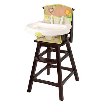 Summer Infant Classic Comfort Wood High Chair - Swingin Safari