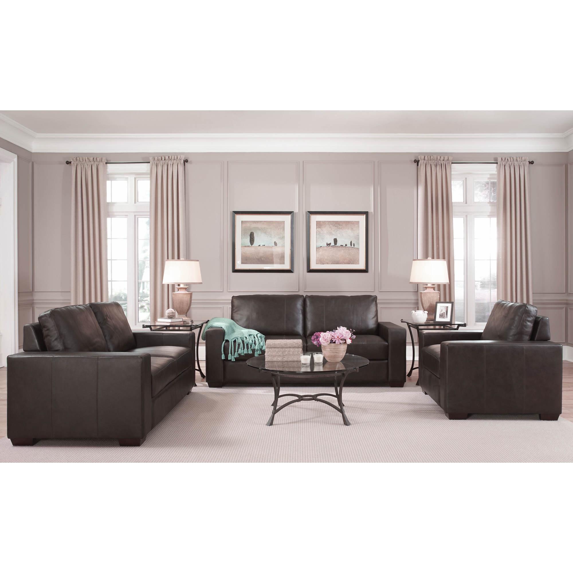 West Hampton Siena  Piece Leather Living Room Set