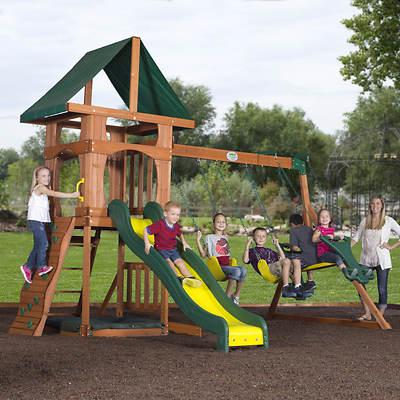 Backyard Discovery Santa Fe Wood Swing Set
