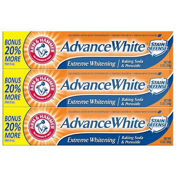 Arm & Hammer AdvanceWhite Extreme Whitening Toothpaste, 3 pk./7.2 oz.