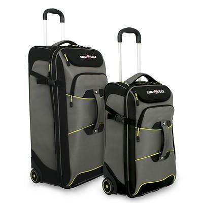 SwissGear 2-Piece Rolling Duffel Bag Set - Pewter
