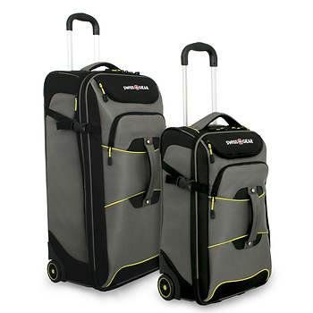 Swiss Gear 2-Piece Rolling Duffel Bag Set - Pewter