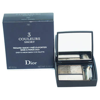 Christian Dior 3 Couleurs Smoky Eye Palette Smoky, 0.19 oz. - #781 Smoky Brown