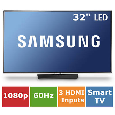 "Samsung 32"" Slim Smart LED 1080p 60Hz Wi-Fi Web Browser"