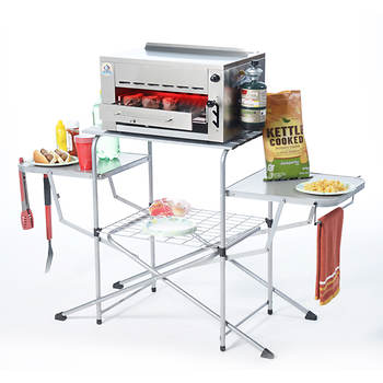 EdenPURE Namath Rapid Cooker Gas Grill with Stand and Carrying Cases/Cover
