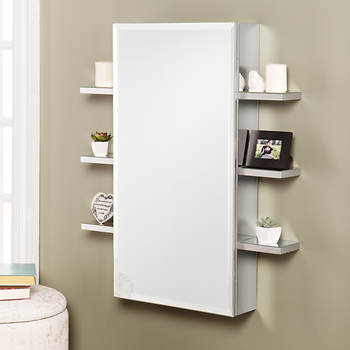 SEI Piper Mirrored Wall-Mount Jewelry Armoire