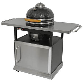 Brinkmann Trailmaster Ceramic Egg Charcoal Grill and Smoker