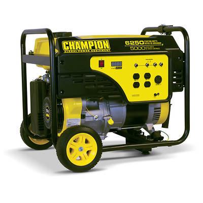 Champion Power Equipment Portable Gas Generator with 5,000 Running Watts, 6,250 Peak Watts