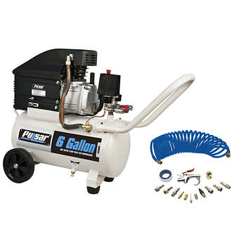 Pulsar 6-Gal. Portable Air Compressor with Accessory Kit