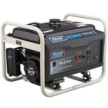 Pulsar Portable Gas Generator with 2,500 Running Watts, 3,250 Peak Watts