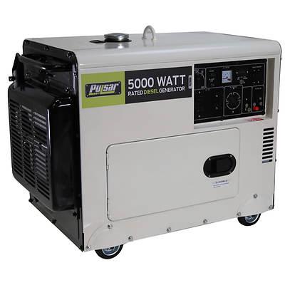 Pulsar Diesel Portable Gas Generator with 5,500 Running Watts, 7,000 Peak Watts