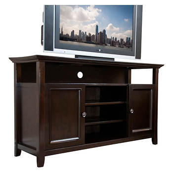 Holmes Cambridge Entertainment Center - Dark American Brown