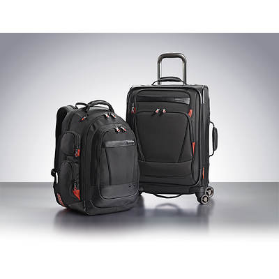 Samsonite 2-Piece Backpack and Carry On Luggage Set - Black