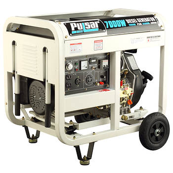 Pulsar Diesel Open Frame Portable Generator with 5,500 Running Watts, 7,000 Peak Watts