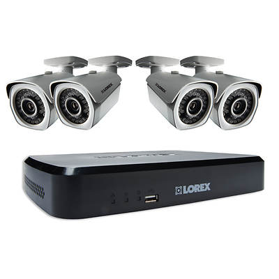 Lorex 8-Channel H.264 HDD 2TB  DVR Security System with 4 HD Night Vision 1080p Cameras