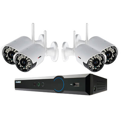 Lorex Eco BlackBox 4-Channel H.264 HDD 1TB Security System with 4  Wireless Real-Time Night Vision 960H Cameras