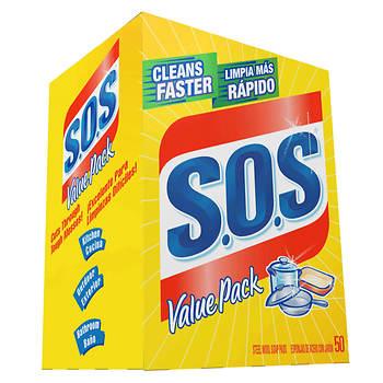 S.O.S. Steel Wool Soap Pads, 50 per Box