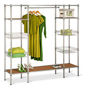 Honey-Can-Do Adjustable Free Standing Steel Closet