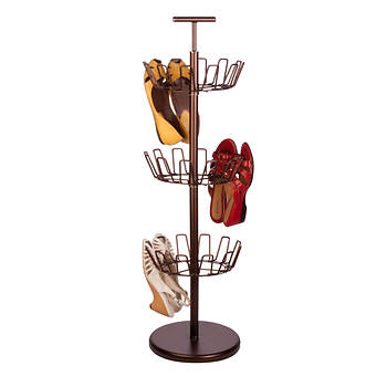 Honey-Can-Do 3-Tier Revolving Shoe Tree - Bronze