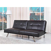 Abbyson Living Milano Bonded Leather Convertible Sofa - Black