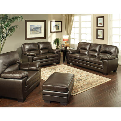 Abbyson Living Carla 4 Piece Top Grain Leather Sofa Set Bj 39 S Wholesale Club