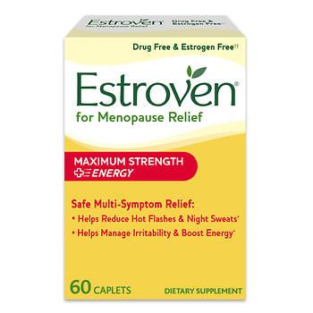 Estroven Maximum Strength Menopause Relief Caplets, 60 ct.