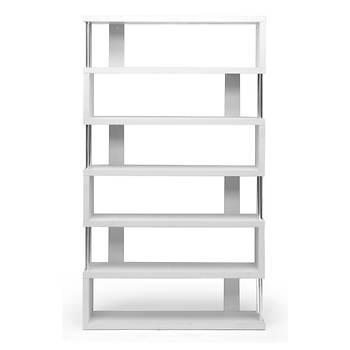 Baxton Studio Barnes 6-Shelf Bookcase - White