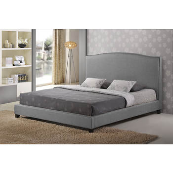 Baxton Studio Aisling Queen-Size Platform Bed - Gray