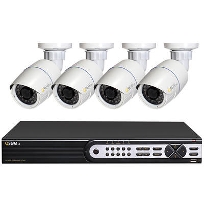Q-See 8-Channel High-Definition NVR with 4 HD 1080p IP Cameras and 2TB Hard Drive