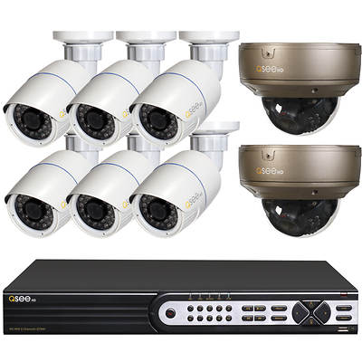 Q-See 8-Channel High-Definition NVR with 8 HD 1080p IP Cameras and 2TB Hard Drive