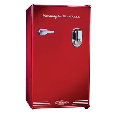 Nostalgia Electrics Retro Series 3.0 Cu. Ft. Compact Dispensing Refrigerator - Red