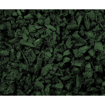 NuScape 100% Recycled Rubber Mulch, Fifty 1.5-Cu.-Ft. Bags - Forest Green