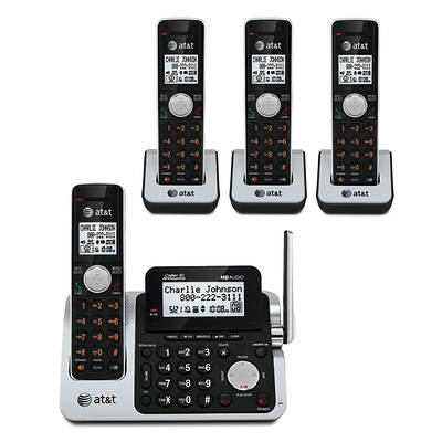 AT&T DECT 6.0 4-Handset Cordless Phone with Digital Answering System