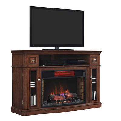 Twin Star Costal Media Console Electric Fireplace - Summer Cherry