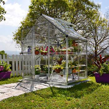 Palram Harmony 6' x 4' Hobby Greenhouse - Silver