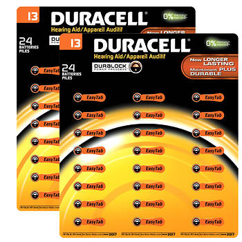 Duracell Hearing Aid Size 13 Batteries, 24 ct., 2 pk.