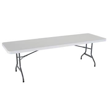 Lifetime 8' Commercial Folding Table - White/Granite