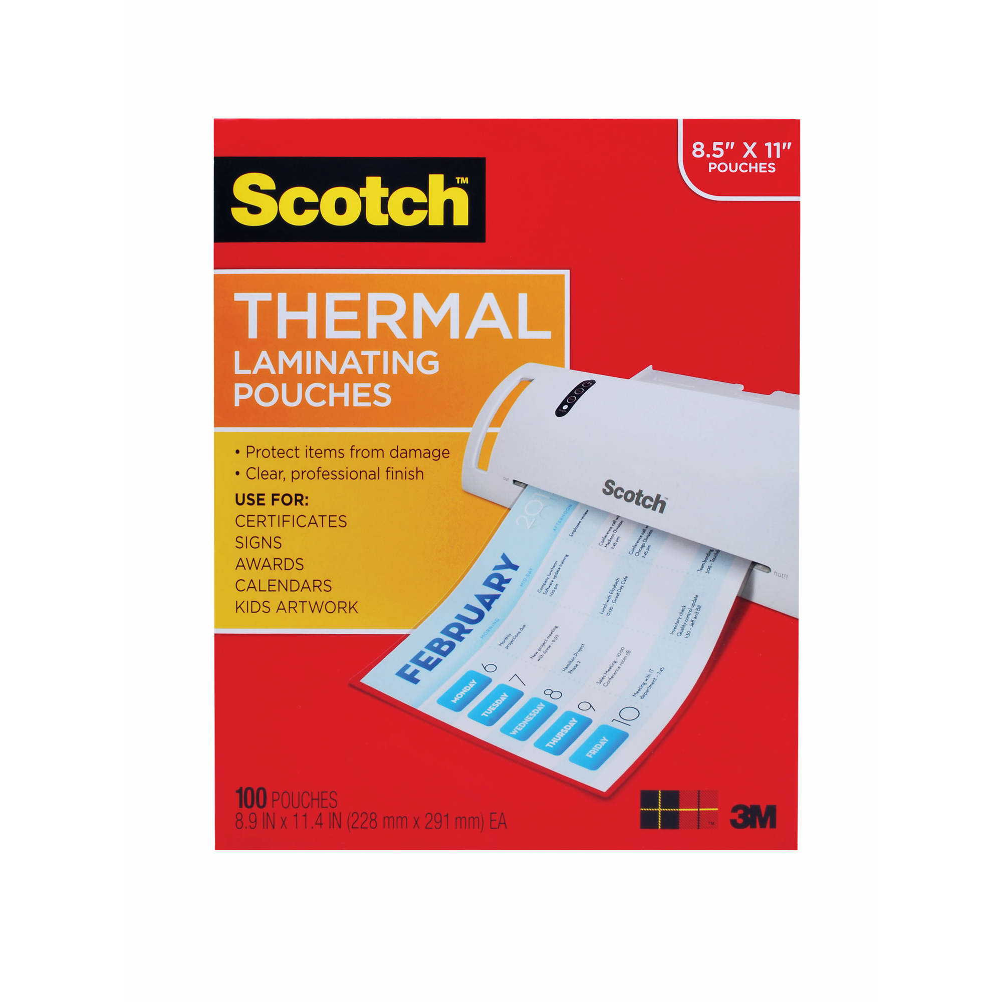 scotch letter size thermal laminating pouches 100 ct With letter size laminating pouches