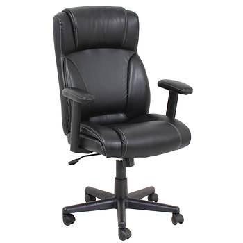 Global Furniture Adjustable Arm Manager Chair - Black