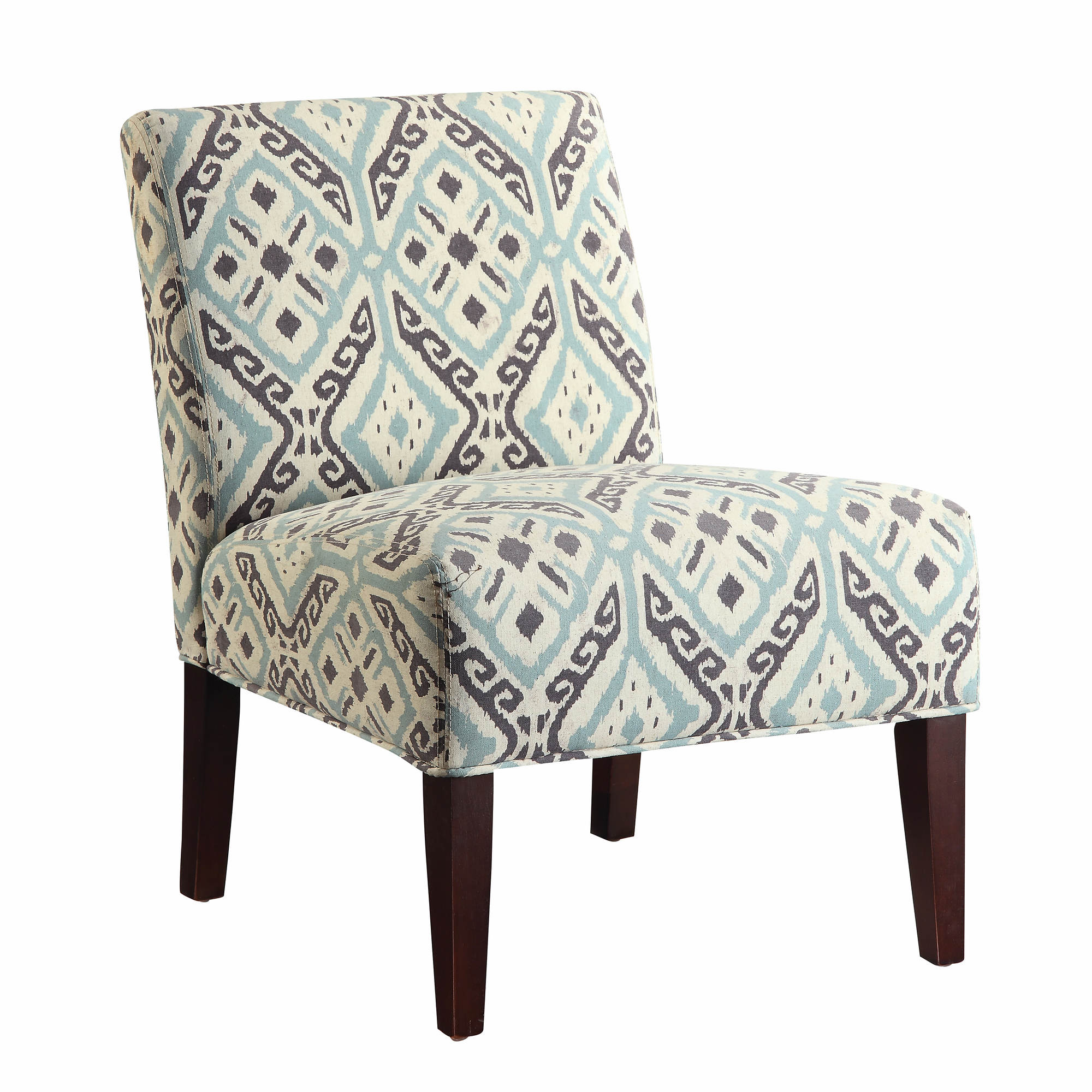 Coaster accent chair beige teal brown bjs wholesale club for Teal and brown chair